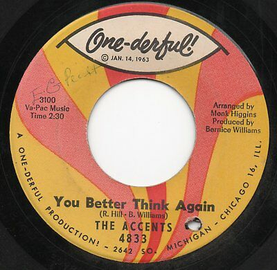 1963 Northern Soul -  The Accents - Who You Gonna Love / You Better  One -Derful