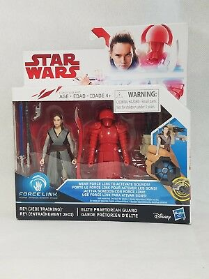 "Star Wars Force Link 2-Pack REY formation vs Elite prétorienne Guard 3.75/"" figures"