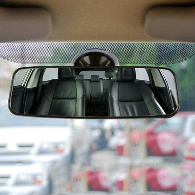 1 piece Car Truck Interior Rear View Mirror Wide Flat Suction Stick Rearview Top