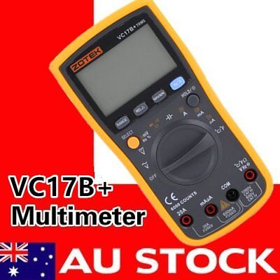 Digital VC17B+ Multimeter Auto/Manual AC DC Large LCD Screen Display TS