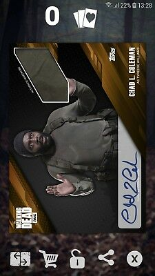 Topps The Walking Dead Card Trader - Tyreese Prize Wheel Signature Relic DIGITAL