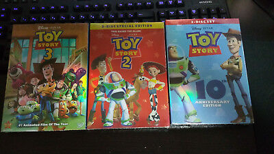 Toy Story Trilogy DVD Combo Set Free Shipping New 1 2 3