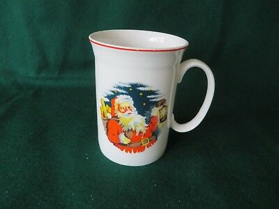 VINTAGE ROY KIRKHAM  small FATHER XMAS mug  fine bone china  ENGLAND