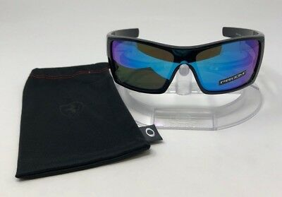 acbe968a80 Oakley BATWOLF Sunglasses Polished Black   Prizm Sapphire Lenses OO9101-5827
