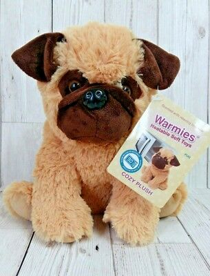 Warmies Pug Microwavable Lavender Scented Heatable Soft Toy New No Box (EI)