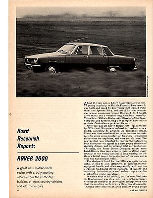 1964 Rover 2000  ~  Nice Original 7-Page Road Test / Article / Ad