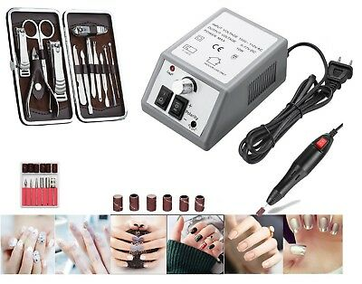 Professional Electric Nail Art File Drill Manicure Tool Pedicure Machine Set kit