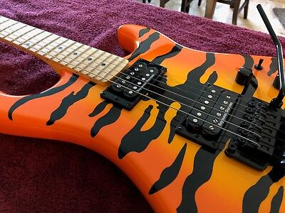 Kramer Pacer Vintage Tiger Orange Floyd Rose, Satchel, Seymour Duncan, With Case