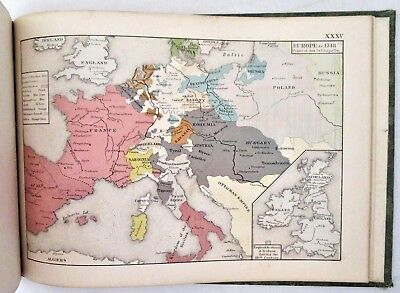 AN HISTORICAL ATLAS, by Robert H Labberton -1872 Greek Roman Middle East History