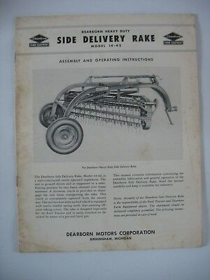 Ford Dearborn Side Delivery Rake Model 14-42 Assembly & Operating instructions