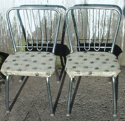 2 Vintage Child Chrome Kitchen Chairs ~ Retro 1950's