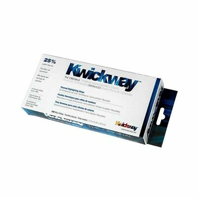 Kwickway - Thermal Highlighting Strips BLUE - 20cm Long 200pk Hair Colour Color