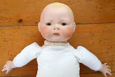 Vernon Seeley Porcelain Head BABY DOLL Repro Horsman Cloth Body Germany