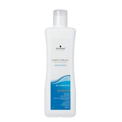 Schwarzkopf Natural Styling Hydrowave Classic 1 Perm Lotion 1000ml Hair Colou...
