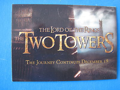 LORD of the RINGS SET LOTR CADBURY The Two Towers TTT 20 Promo Cards C1-C20 2002