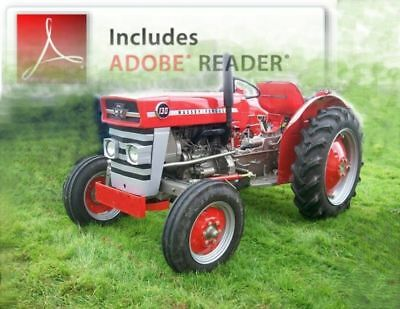 Massey Ferguson MF25 / MF130 Manual -Complete Set on CD - A Unique Compilation !