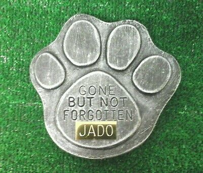 Dog or cat  Pet Memorial with plaque  headstone/stone/memorial paw  no 6