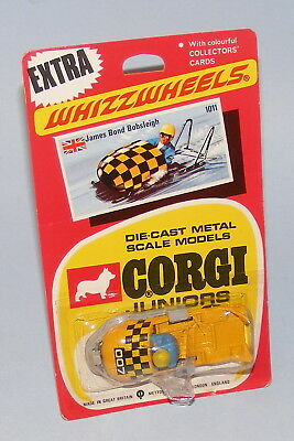 Corgi Juniors #1011 James Bond Bobsleigh Vintage 1970 Factory Sealed Blister