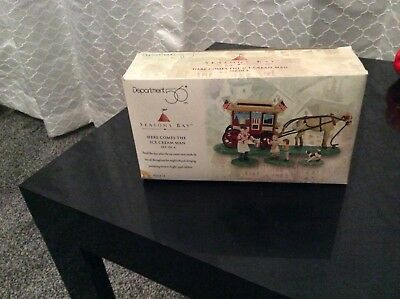 Dept 56 HERE COMES THE ICE CREAM MAN Seasons Bay Collection #53314 retired