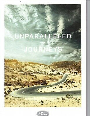 2016 Land Rover Unparalleled Journey ~  Original 29- Page Brochure