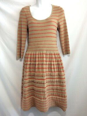 7d624e58cf2 Anthropologie Knitted   Knotted Elodie Striped Sweater striped red Dress M
