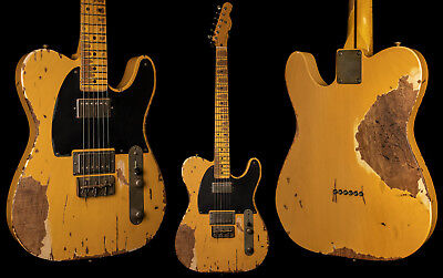 Nash T2HB Butterscotch Blonde Electric Guitar - Extra Heavy Aging