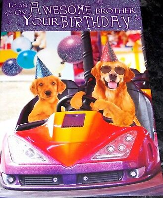 Awesome Brother Birthday Card By Tracks Cards Dodgems Dogs Theme