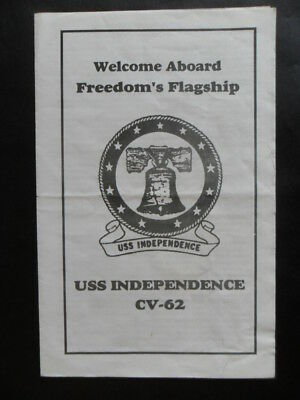 United States Navy USS INDEPENDENCE (CV-62) Welcome aboard 1990's