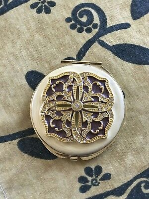 metal compact mirror Vintage For Purse Makeup