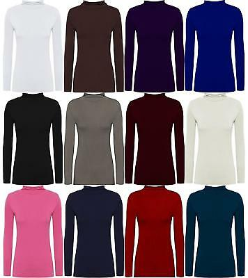 New Kids Boys Girls Basic Polo Neck Jumper Top Turtle Roll Neck 3-14 Years