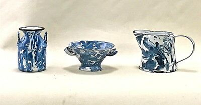 """Graniteware Enamelware Miniatures - Well made and great color - 2"""""""