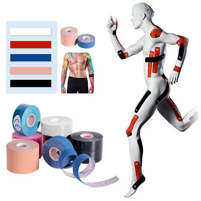 5M Athletic Elastic Kinesiology Sport Tape Fitness Muscle Pain Care Waterproof