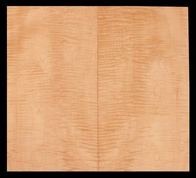 Curly Maple Bookmatch Thin Lumber Luthier Wood Guitar Top #2219