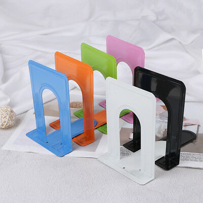 Colourful Heavy Duty Metal Bookends Book Ends Office Stationery WG