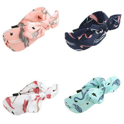 Ladies Girls Flamingos Print Wide Headband Hair Band Alice Band Hair Accessories