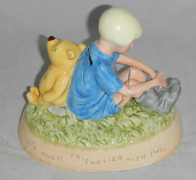 Classic Pooh with Christopher Robin Bank