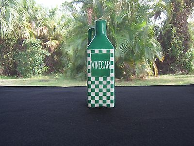 Ditmar Urbach 1920 Era Vinegar Bottle Stamped And Numbered Art Deco Green Check
