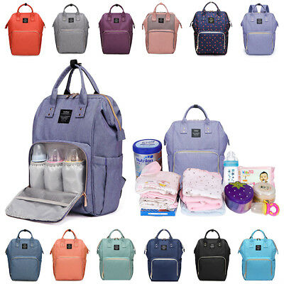 Large Heine Mummy Maternity Nappy Diaper Bag Capacity Baby Bag Travel Backpack
