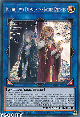 Sofu-Ense1 Isolde Two Tales Of The Noble Knights Super Rare Ltd Edition Yugioh