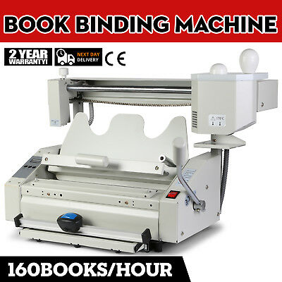 New Hot Melt Glue Book Binder Machine book spine Binding 220V Binding speed
