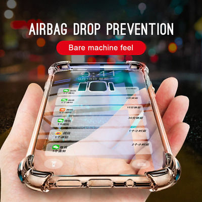 Silicone Airbag Transparent Phone Case For Samsung Note8 S8/9 Plus J4 J6 A6 2018