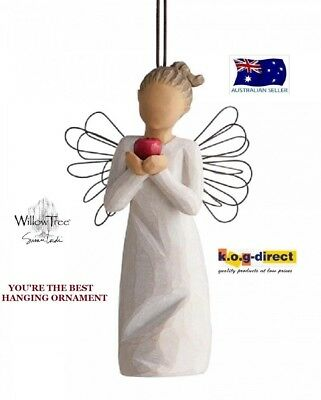 YOURE YOU'RE THE BEST ANGEL ORNAMENT Demdaco Willow Tree Figurine Susan Lordi