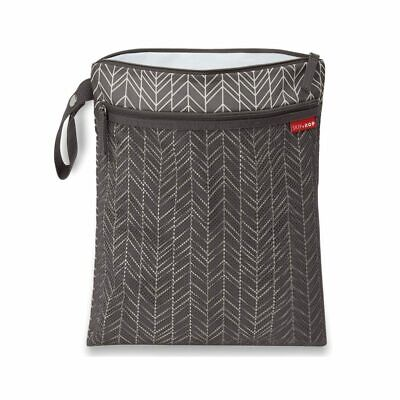 NEW Skip Hop Grab & Go Wet/Dry Bag - Grey Feather