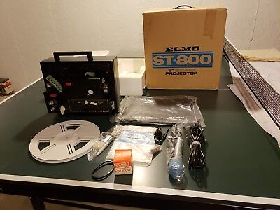 ELMO ST-800 Super 8 Movie PROJECTOR Original Package Collectors Quality.