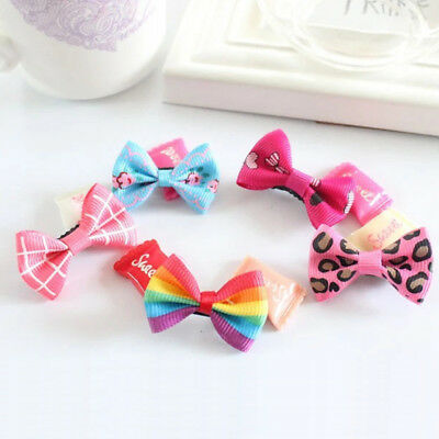 10pcs Floral Bow Hairpins Kids Baby Clips Hair Accessories Barrettes Colorful