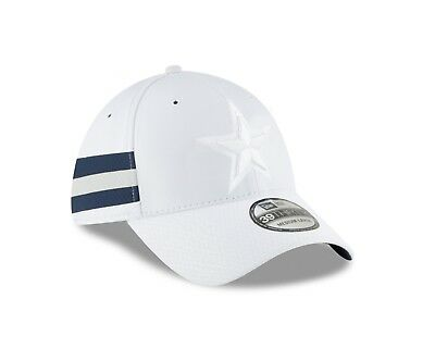 the latest 4f2e1 ef5c7 Dallas Cowboys New Era White 2018 NFL Sideline Color Rush Official 39THIRTY  Hat