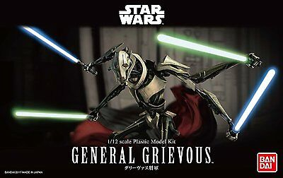 Star Wars 1/12 General Grievous Model Kit Bandai Japan NEW