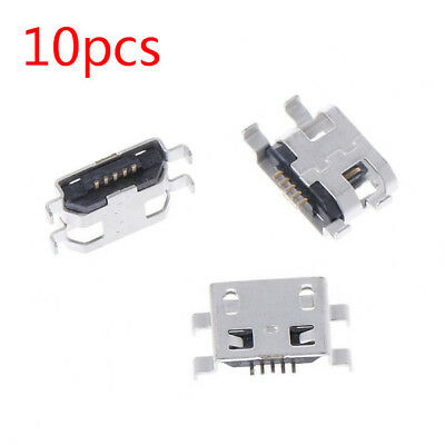 x10 Type B Micro USB 5 Pin Female Charger Mount Jack Connector Port Socket