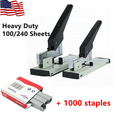 Heavy Duty 100/240 Sheet High Capacity Office Desk Stapler Bookbinding Stapling