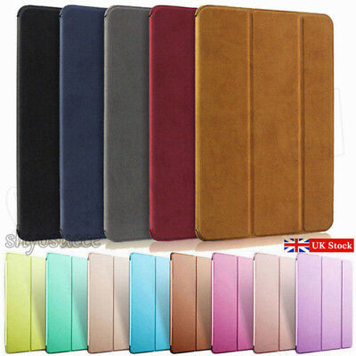 UK Suede/Leather Smart Case Cover For Apple iPad 5/6th Generation 2017 2018 9.7""